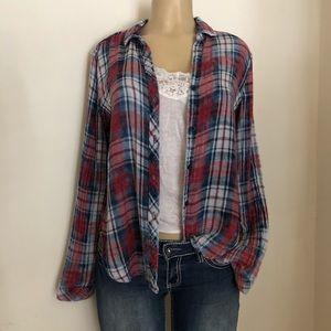 Cloth & Stone Sz S Shirt Button Down V Neck